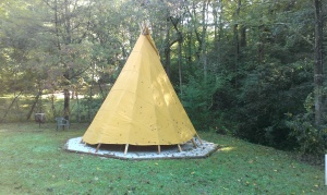Enjoy a night in a tipi by Wolf Creek